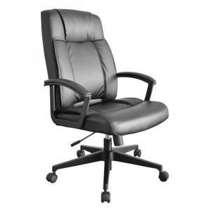 Cadeira presidente couro preto nova