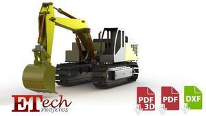 Escavadeira cat 336l rc automodelismo - desenho técnico