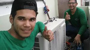 Instalação limpeza manutenção de ar condicionados.