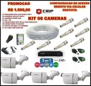Kit monitoramento cameras - 08 canais