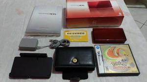 Nintendo 3ds + pokémon heart gold + case protetora