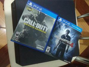Playstation 4, um mês de uso, nota fiscal, na garantia