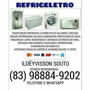 Refrigeração, lavadoras e microondas