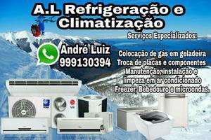 Serviços de refrigeração: geladeiras,ar condicionado,