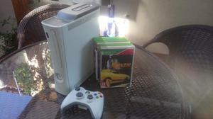 Xbox 360 fat arcade branco com hd