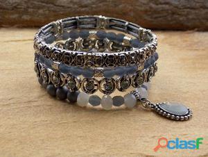 Mix de pulseiras boho chic conjunto kit bijuterias