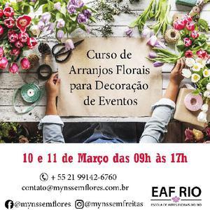 Curso de arranjos florais para decoração