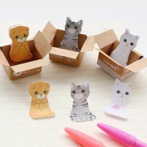Adesivo post it,marcador de livros gatos bloco com 30 folhas