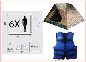 Barraca camping para 6 pessoas semi nova, (nunca usada)