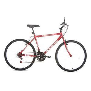 Bicicleta aro 26 vermelha houston com 21 marchas nova