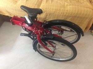 Bicicleta dobrável durban one - aro 20 na cor vermelha