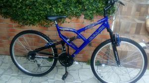 Bicicleta com dupla suspensão aro 26