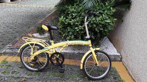 Bicicleta dobrável, aro 20, 21 marchas