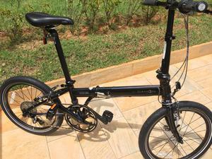 Dahon speed p8 - bicicleta dobrável preta seminova