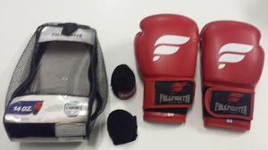 Luva de box full fighter 14 + bandagem