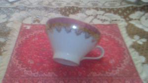 4 xícaras para chá, porcelana real