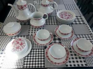 Conjunto de chá de porcelana renner 1960
