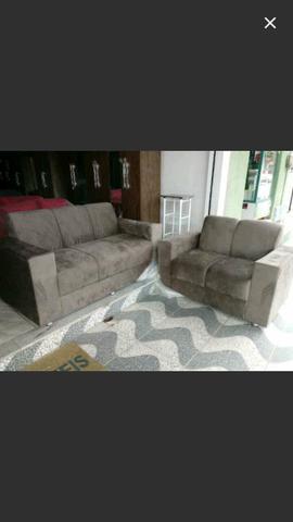 Conjunto de sofá dois e três lugares preciso sair mais