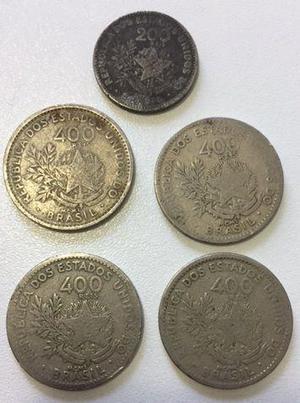 Lote com moedas antigas de 1901 (mcmi)
