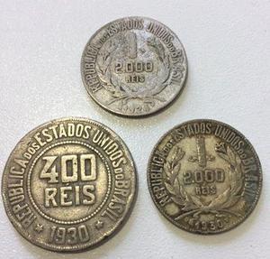 Lote com moedas antigas de 1924 e 1930