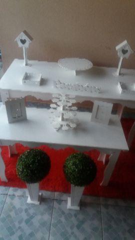 Mesas provençais decoração infantil