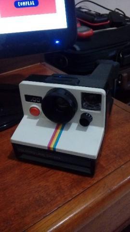 Máquina fotográfica polaroid land 1970 branca