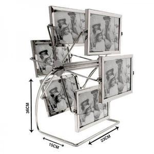 Porta retrato giratório roda gigante metal 12 fotos 10x15