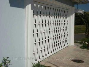 Portões trançados de garagem galvanizado