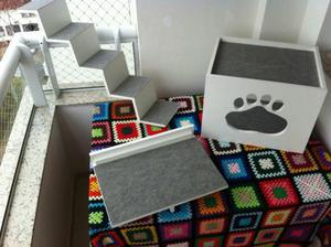 Kit gatos escada plataforma e módulo