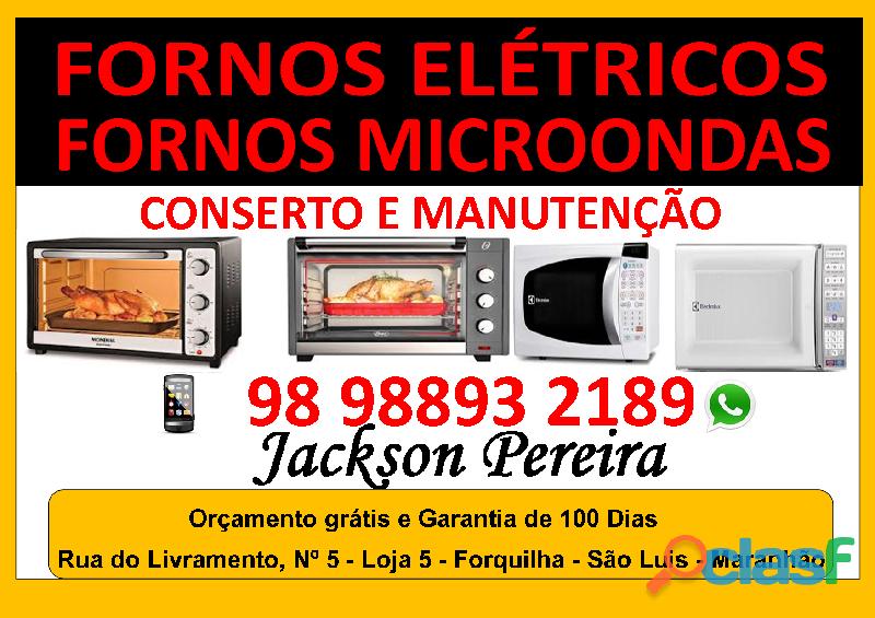 Conserto e manutenção em fornos elétricos e microondas