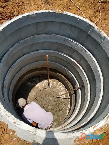 Fossa séptica e normal, poço caipira, cisterna etc