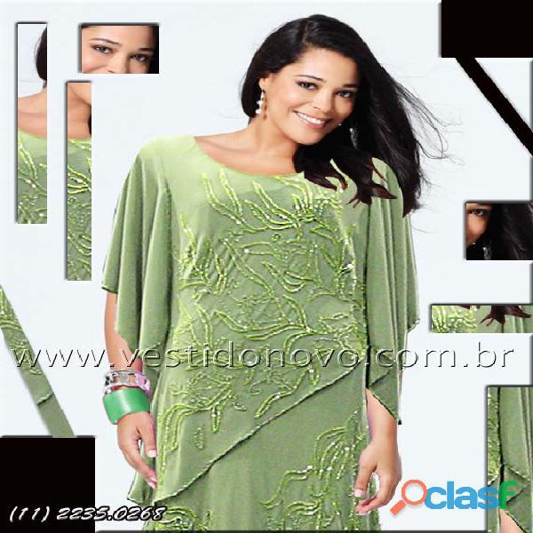 vestido plus size na cor verde em camadas loja aclimação, vila mariana, zona sul