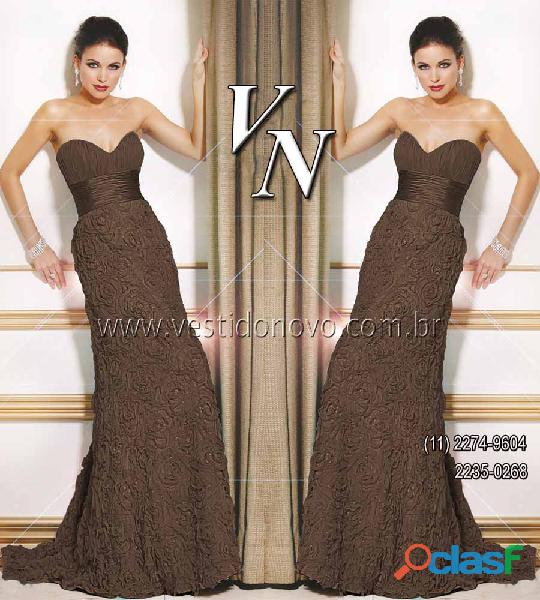 Vestido plus size chocolate , loja VESTIDO NOVO zona sul