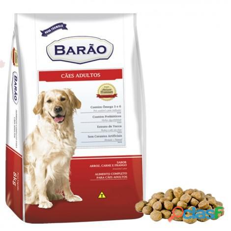 Ração barão premium cães adultos carne e frango   25 kg