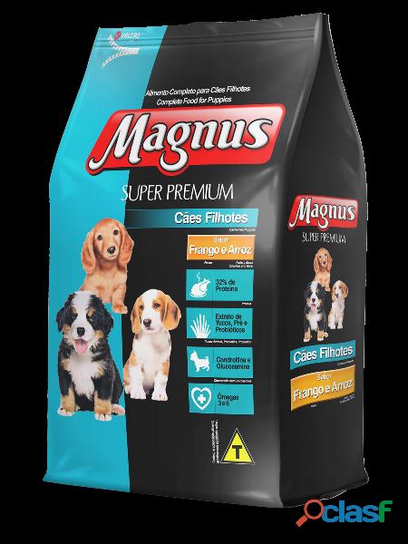 Ração magnus super premium cães filhotes sabor frango e arroz   10,1 kg