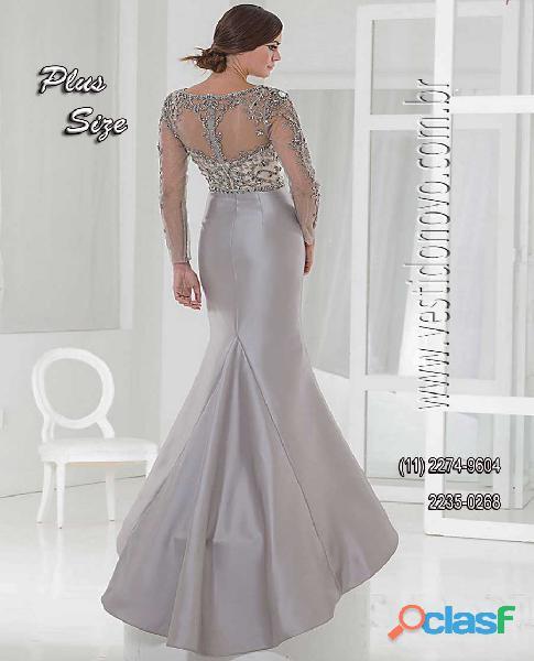 Vestido bodas de prata plus size zona sul