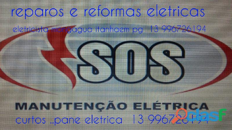 ELETRICISTA RESIDENCIAL MONGAGUA 13 996726194