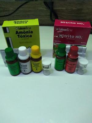 Testes de amônia e nitrito para aquário doce ou marinho