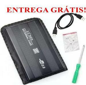 Case hd externo sata 2.5 de bolso usb 2.0 notebook slim