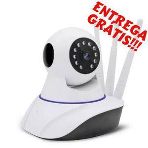 Câmera de segurança ip noturna wifi 3 antenas hd celular