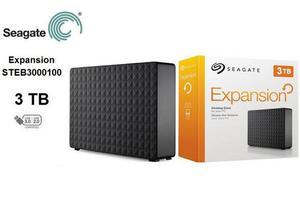 Hd externo seagate 3tb desktop caixa completo