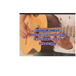 Aulas de violão presenciais e on line