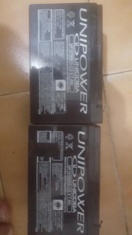 2 baterias unipower 12v 7a