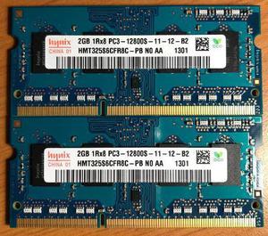 2 unidades de memória ram 2gb ddr3 1rx8 pc3-10600s 1333mhz