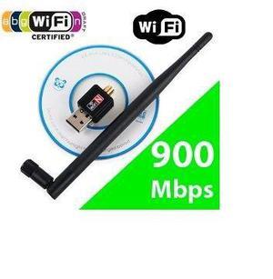 Adaptador wireless usb wifi 900mbps sem fio alta velocidade