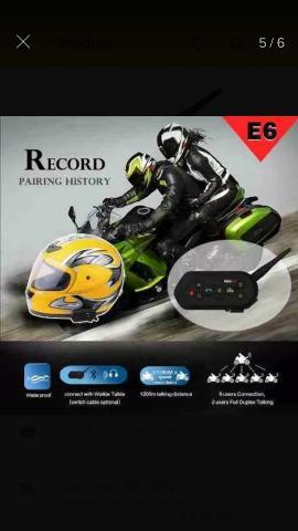 Intercomunicador de capacete moto e6