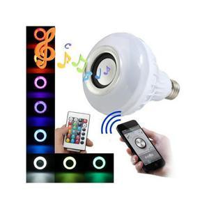 Lâmpada led musical bluetooth rgb caixa de som com controle