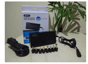 Carregador universal notebook 8plug 12-24v 96w