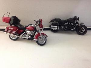 Duas motos harley davidson maisto 1:18 usadas ler tudo r$65