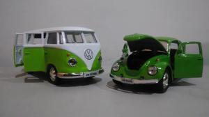 Kit miniaturas de kombi e fusca